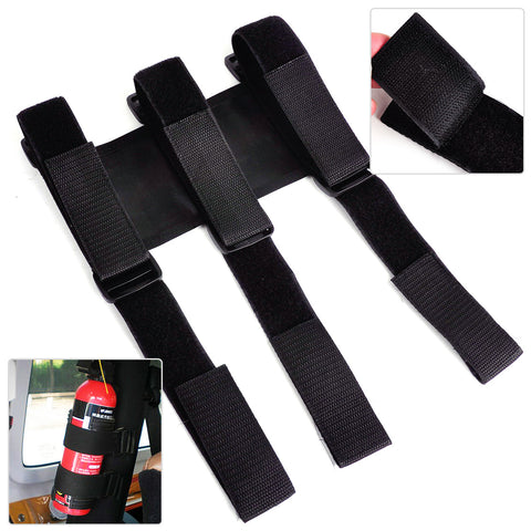 Black Nylon Fire Extinguisher Holder Roll Bar Fix Safety Strap Fit for Jeep Wrangler TJ 1997 1998 1999 2000 2001 2002 2003-2006