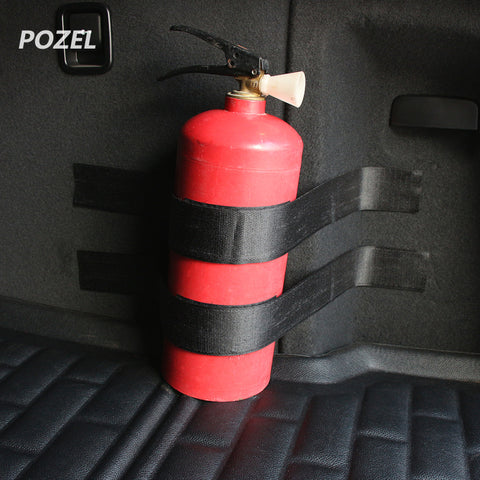New Portable Car Trunk Bag Fire Extinguisher Holder Safety Black Bandage Tape Strap Kit