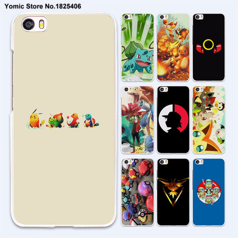 cartoon Pokemons Bulbasaur fire type starters hard White Case Cover for xiaomi mi 5 5s Plus 4 4c 4s redmi 3 3s 4A note 3 4