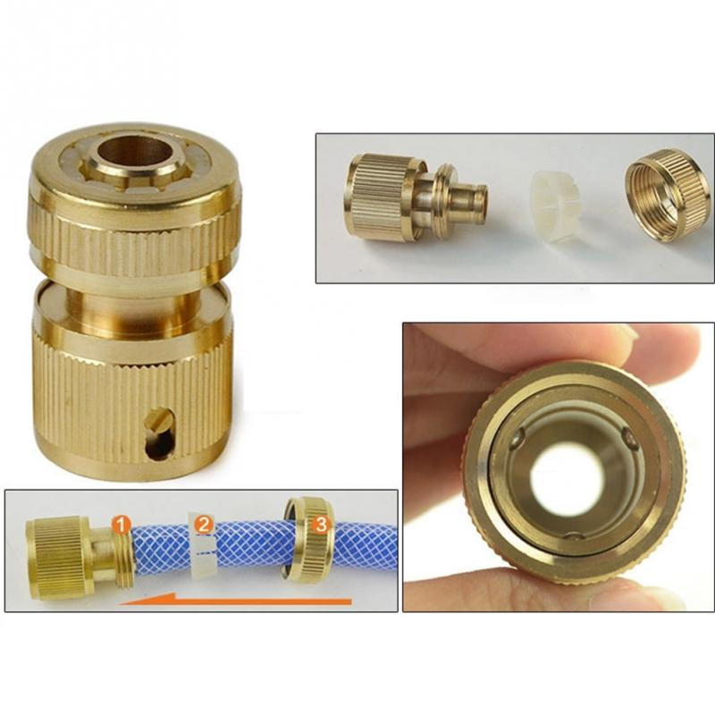 1/2inch Copper Metal Threaded Water Pipe Connector Tube Tap Snap Adaptor Brand New and High Quality for Water Gun Water Pipes