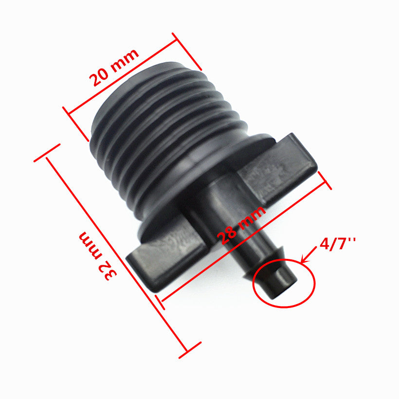 10pcs1/2-inch Tapped Conversion 4mm Barb Fittings Irrigation Switch Connector With Micro-irrigation Fittings Garden Hose 4/7 mm