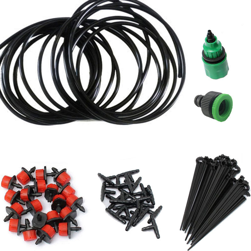 1 Set Irrigation Drip Watering System 5m Hose 10x Drippers Irrigation System Plant Garden Watering Kit Convenient and Practical
