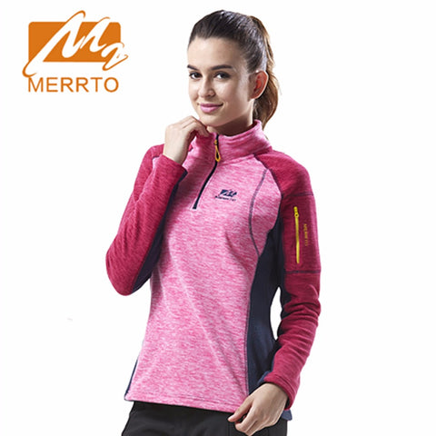 2017 Merrto Womens Fleece Jackets Thermal Mountain Clothing Color Green Pink Rose Yellow For Women Free Shipping MT19205