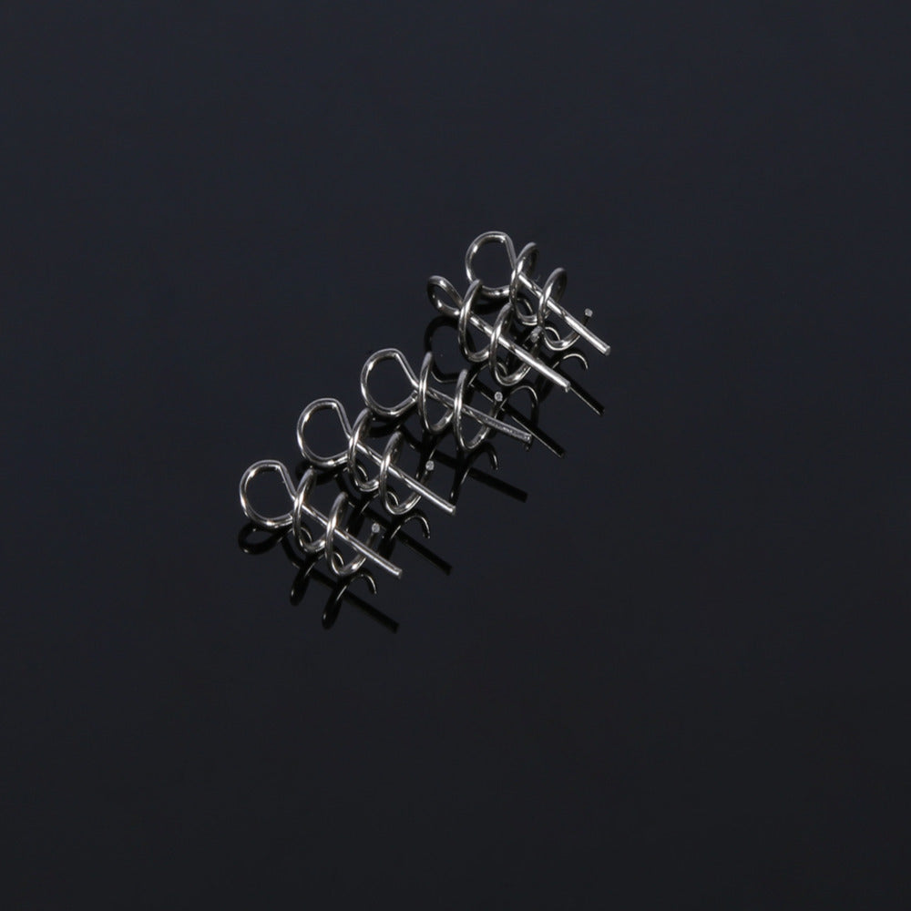 100pcs/Bag Pesca Fising lure 14mm Fishing Pin Spiral Fishing bait Steel Fishing Spring Of Fishing Accessories