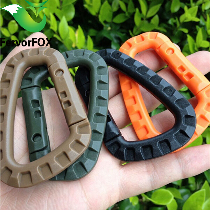 10PC/Lot Mini Climbing Carabiner Clip Edc Tool Outdoor Camping Carabiner Equipment Militery Survival Kit Edcgear Emergency
