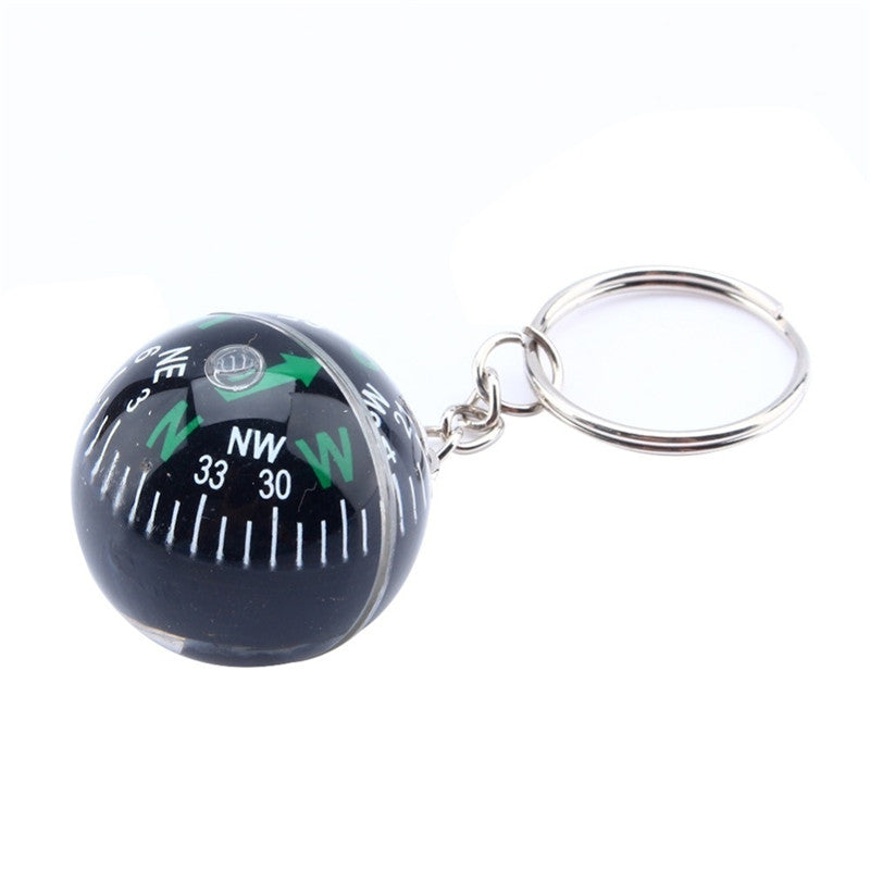 1 pcs New Arrival 28mm Ball Keychain Liquid Filled accuracy Compass Camping Hiking Travel Outdoor Survival