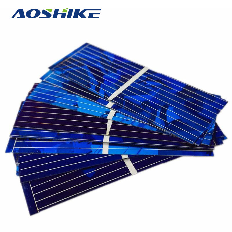 100Pcs Solar Panels China Painel Solar Polycrystalline Silicon Solar Cells For DIY Cell Phone Charging 52x19mm