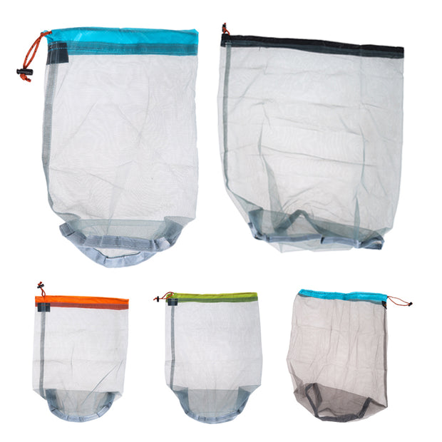 Ultralight Sport Bags Camping Mesh Sack Bag Drawstring Pouch For Sleeping Bag Outdoor Camping Storage Bags