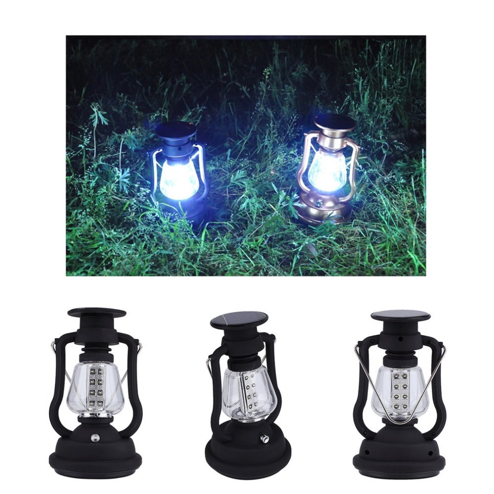 16 LED Solar Panel Hand Crank Camping Light Lamp RY-T92 Bright Outdoor Lantern Brand New