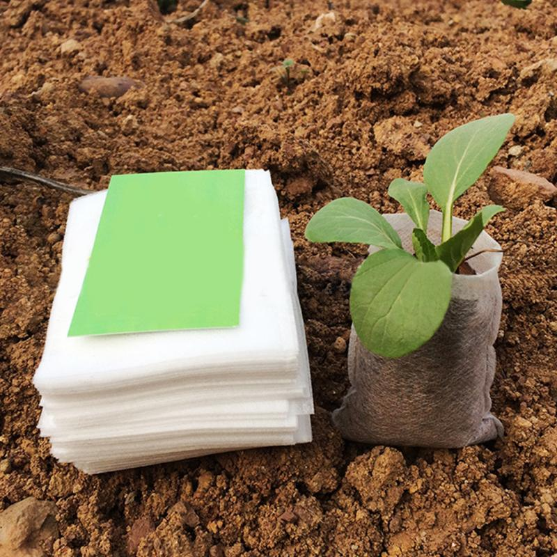100Pcs/set Nursery Pots Seedling raising Bags 8*10cm Fabrics Garden Supplies
