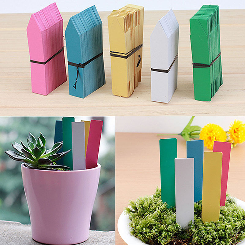 100PCS New Design  Plastic Plant Seed Labels Pot Marker Nursery Garden Stake Tags Cute Garden Labels Free Shipping