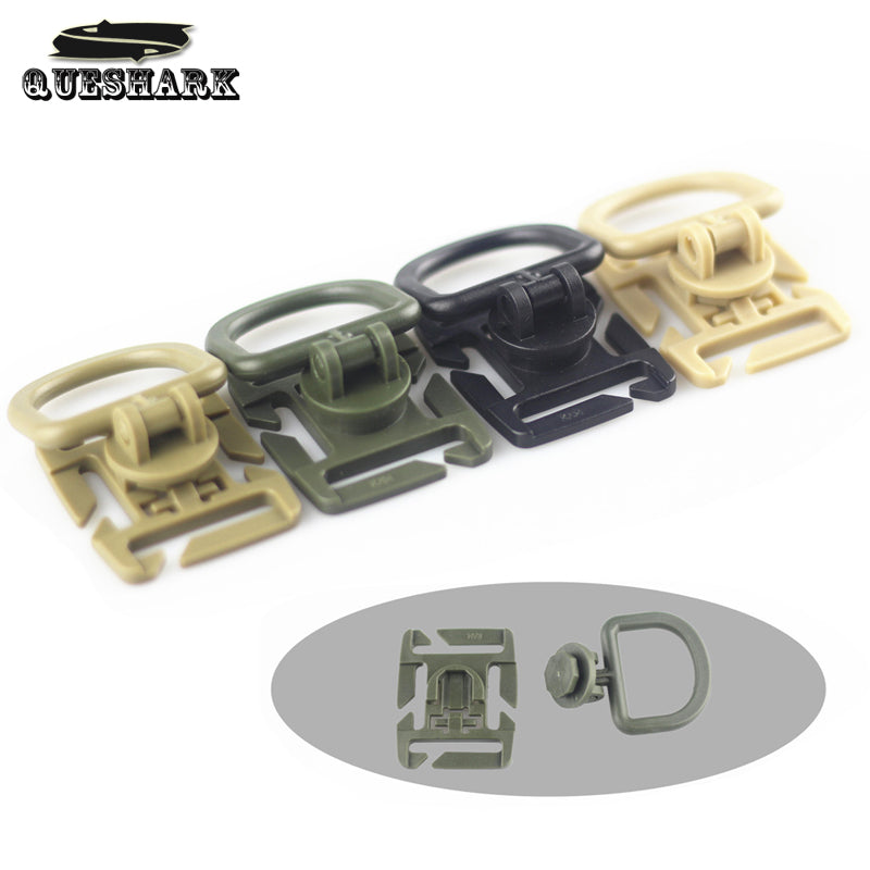 10Pcs/Lot 360 Rotation D Ring Molle Tactical Backpack Buckle Sternum Strap System Swivel POM Buckle Webbing Lock Carabiner