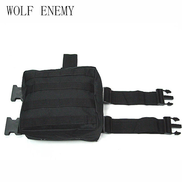 Army Military Molle Tactical DUMP Drop Leg Panel Utility Pouch Paintball Airsoft Storage Magazine Camo Waist Bag