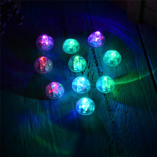 10 Pcs Coloured Led Lighting Balloon Lights Mini RGB Noctilucent Flash Lamps For Lantern Christmas Wedding Party Garden Decor