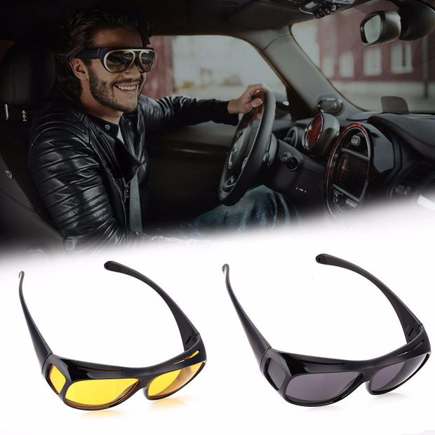 Men Women Sunglasses Unisex HD Vision Yellow Polarized Sunglasses Night Vision Goggles Car Driving Glasses Eyewear UV Protection