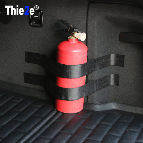 Car Trunk Fire Extinguisher Receive Content Bag Storage Magic Tape Internal Accessories Supplies Sticker on Car-styling