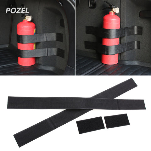 4pcs Fire extinguisher Holder Safety Strap Kit for Mini One Cooper R50 R52 R53 R55 R56 R60 R61 PACEMAN COUNTRYMAN
