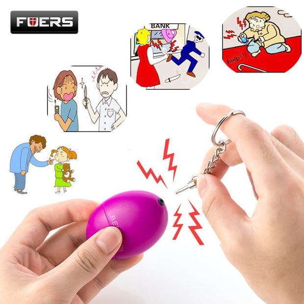 Fuers Self Defense Alarm 120DB Portable Loud Keychain alarm Personal Protection Safety Anti-Rape Alarm Emergency Self defence