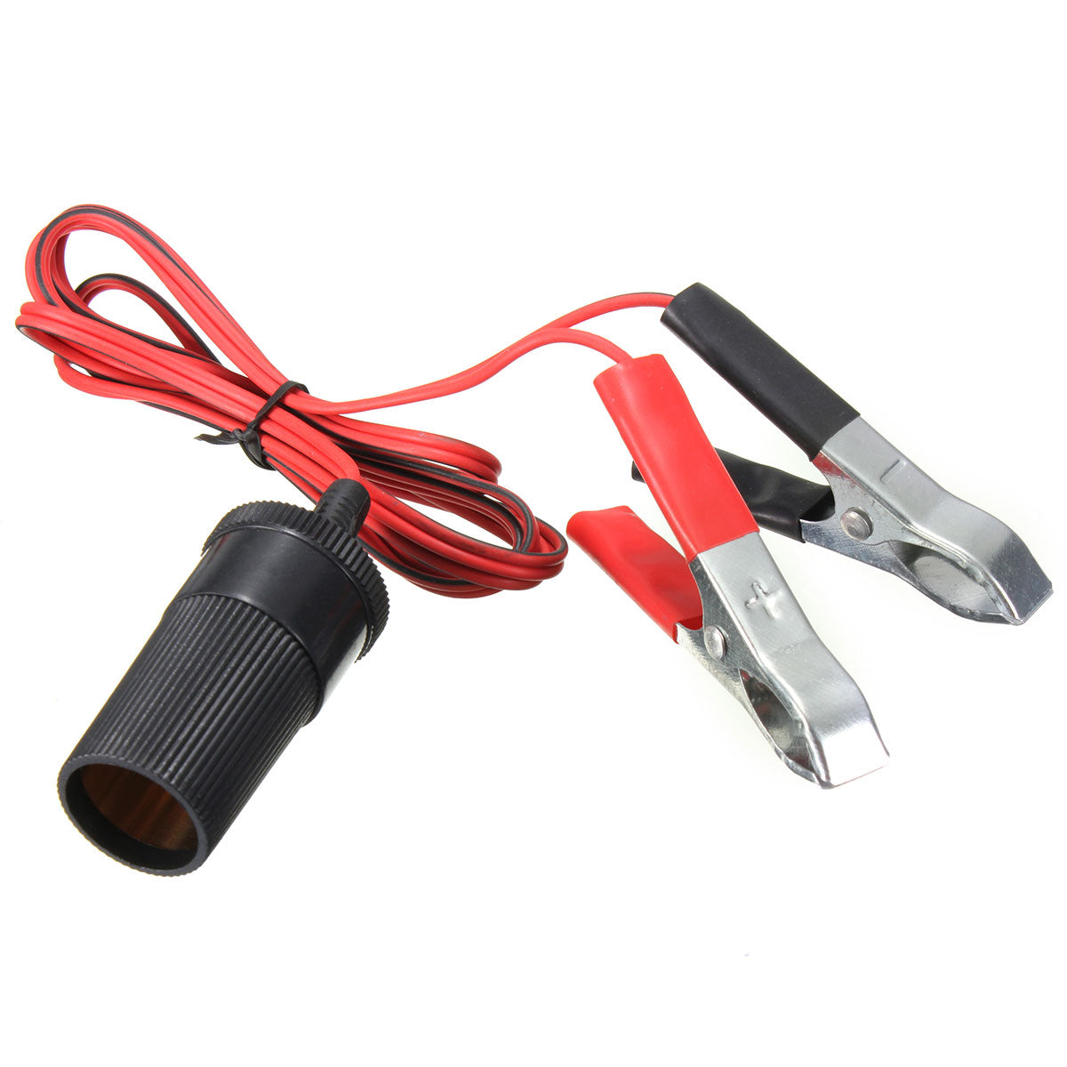 Auxiliary Socket Cigarette Lighter Clip On Crocodile Leisure Battery Jump Cable Clips 12V