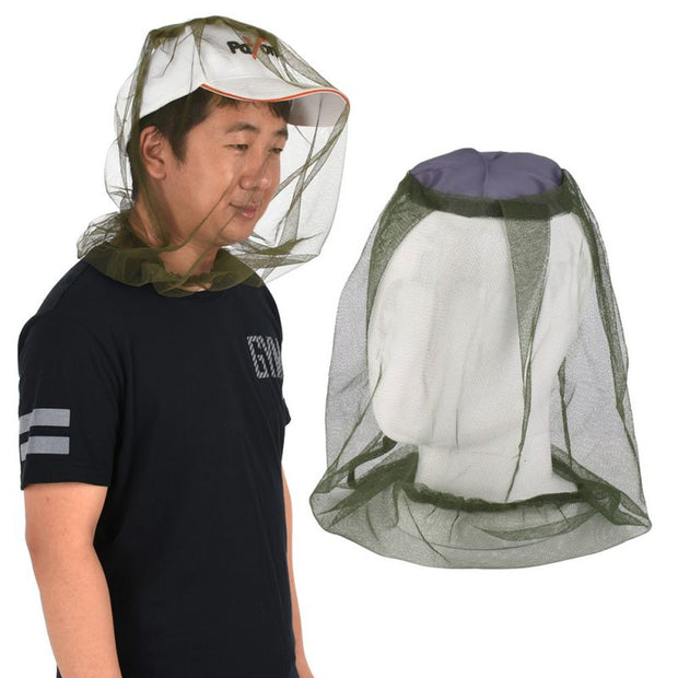 Outdoor Survival  Anti Mosquito Bug Bee Insect Mesh Hat Practical Travel Camping Protector For Head Face Protect Net Cover