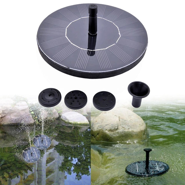 Solar Power Floating Water Pump Solar Panel Kit Garden Plants Watering Power Fountain Pool Pond Watering Submersible