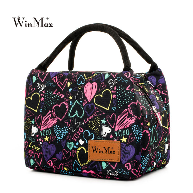 Winmax 2017 New Colorful Insulated Picnic Bag Portable keep Food Safe Warm Big Thermal Cooler Box School Picnic Hiking Bags Hot