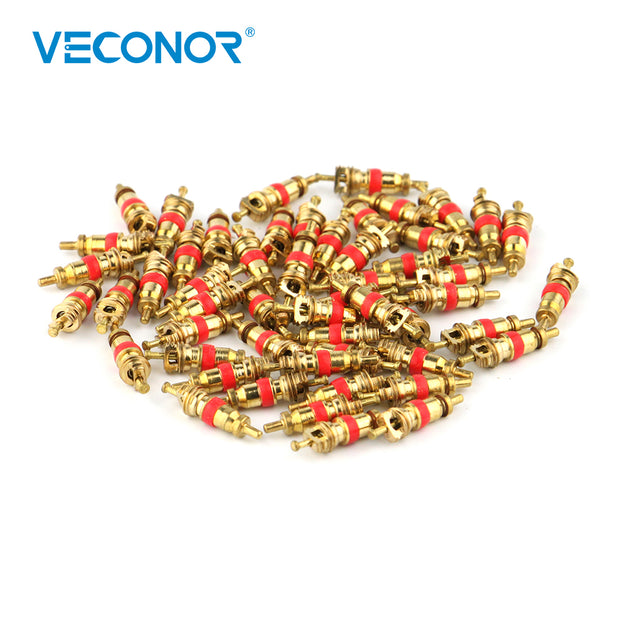 50 pieces universal car and motorcycle bicycle tire valve core copper material tire accessories tubeless tire valve core