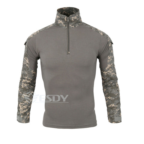 Camouflage Military Uniform Combat Shirt Cargo Multicam Airsoft Paintball Militar Tactical Clothing