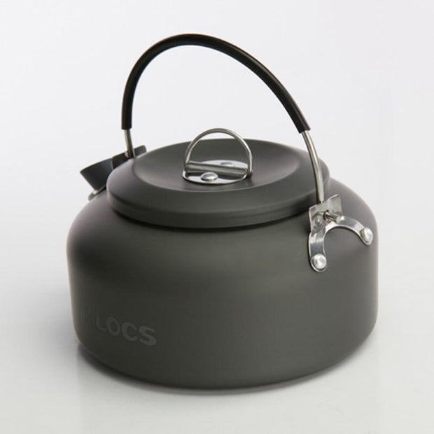 Outdoor Portable Coffee Teapot Kettle Camping Hiking Picnic BBQ Kettle Water Pot 0.8L Aluminium Alloy Tea Kettle