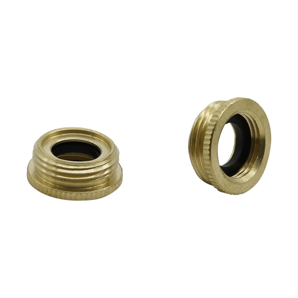 "Garden 1/2"" to 3/4"" Male Thread Adapter Brass Car wash hose connector gardening tools and equipment 2 Pcs"
