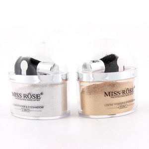 MISS ROSE Highlighter Glow Eyes Shinning Eye Shadow Makeup Glitter Loose Powder