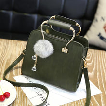 Korean style shoulder strap with cute fluffy hairstyle