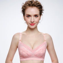 Soft Breathable Pregnant Breastfeeding Lace Wireless Bra