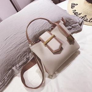 New Trend Contrast-Color Elegant Bucket Bag