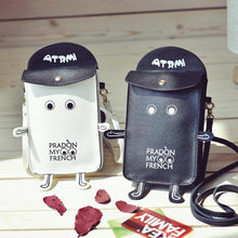 Cute Robot PU Leather Shoulder Phone Bag