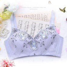 Wireless Flowers Printed Adjustable Gather Thin Bras