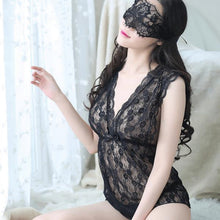 Alluring See-Through Lace Women Lingerie Set