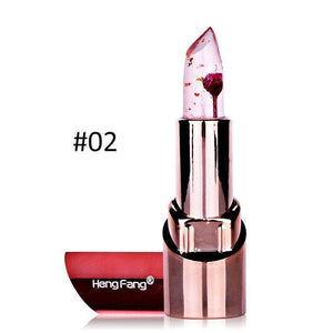 Hengfang Flower Lipstick With Mirror Temperature Changed Lip Balm Waterproof Moisturizer Lips Makeup