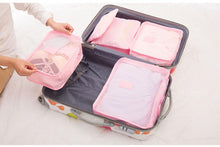 6Pcs Waterproof Cube Travel Storage Bags