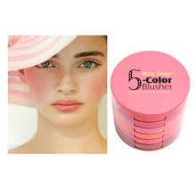 5 Colors Waterproof Blusher Palette With Blush