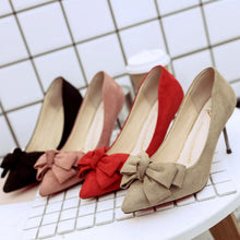Bowknot High Heel Women Fabric Pump