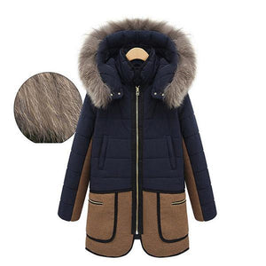 Slim Hoodie Thick Cotton Padded Long Coat Outerwear