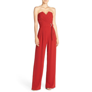 Off Shoulder Strapless Jumpsuit