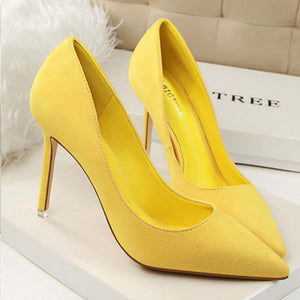 Simple Fashion High-Heeled Shallow Wedding Party Shoes