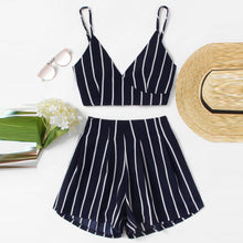 New Style Stripe Printing Casual Set