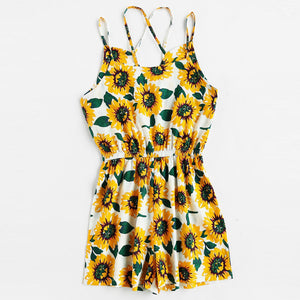 Halter Cross Vacation Casual Playsuit