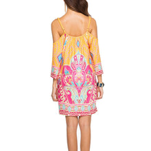 Printed Milk Silk Beach Sling Vacation Dress
