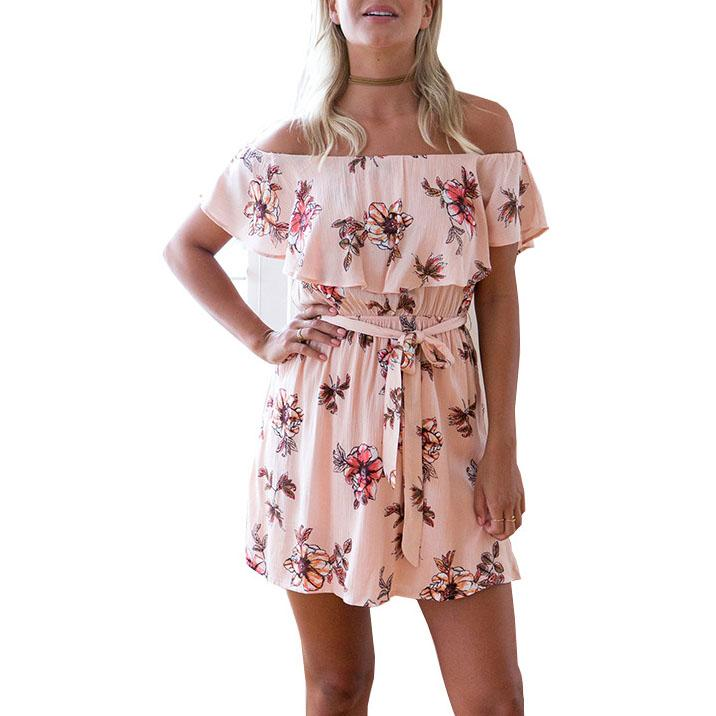 Casual Floral Printed Vacation Dress