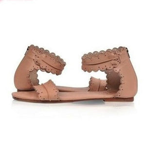 Casual Pure Color Flat Sandals Shoes