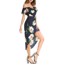 One Word Show Back Sexy Open Fork Print Dress